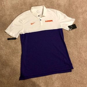 Nike Men's Dri Fit Clemson Polo NWT